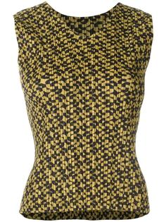 patterned pleated top Pleats Please By Issey Miyake