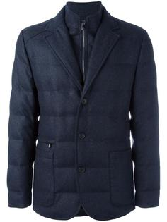 zip up padded jacket Corneliani