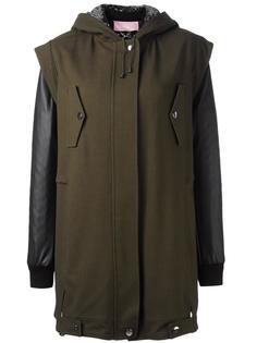 многослойное пальто с капюшоном Giamba