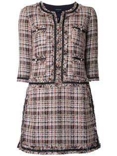 collarless tweed dress Loveless