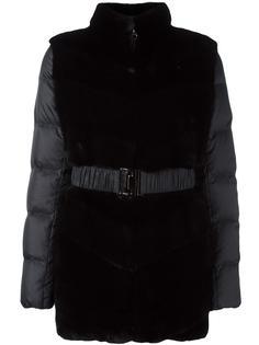 padded contrast panel coat Liska