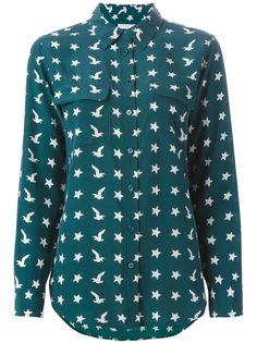 рубашка с принтом птиц и звезд Equipment