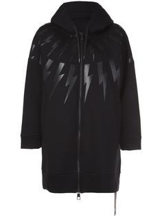 'Bolt' long hoodie Neil Barrett