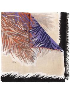 feather print scarf Emilio Pucci