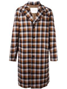 однобортное пальто в клетку Mackintosh