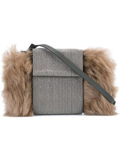 сумка через плечо с меховой отделкой Brunello Cucinelli