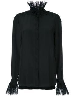 рубашка со стоячим кружевным воротником Ermanno Scervino