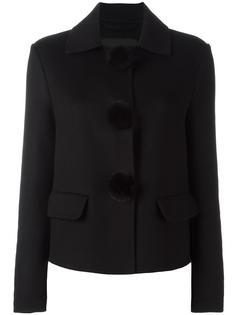 укороченная куртка с помпонами Ermanno Scervino