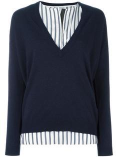 пуловер с полосатой вставкой Brunello Cucinelli