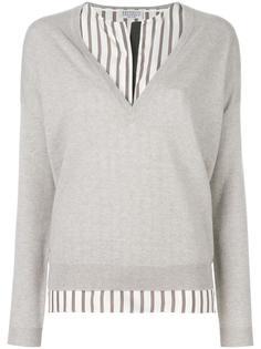 пуловер с вышивкой макраме Brunello Cucinelli