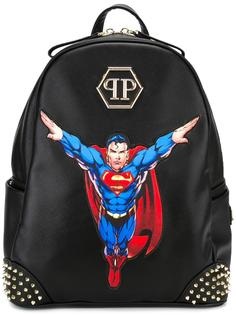 Superman patch backpack Philipp Plein