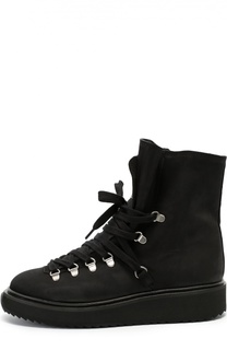 Кожаные ботинки на шнуровке Kenzo