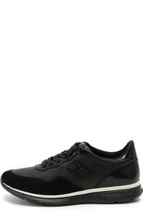 Комбинированные кроссовки с тиснением Hogan