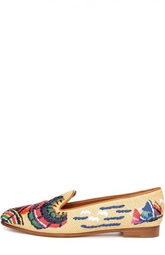 Плетеные лоферы Olivera с вышивкой Ralph Lauren