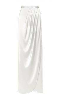 Макси-юбка асимметричного кроя с защипами St. John