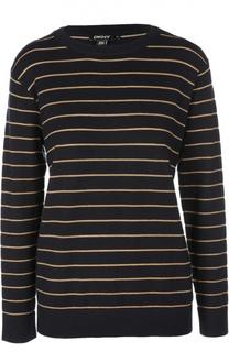 Пуловер прямого кроя в контрастную полоску DKNY
