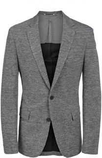Приталенный шерстяной пиджак BOSS