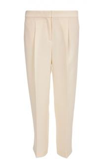 Укороченные брюки прямого кроя с защипами BOSS
