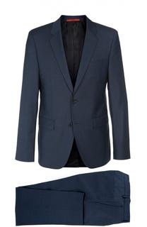 Шерстяной приталенный костюм HUGO
