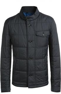 Стеганая куртка с накладным нагрудным карманом BOSS