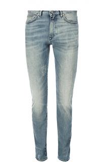 Зауженные джинсы с потертостями BOSS
