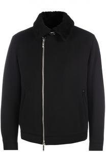 Шерстяная куртка на молнии BOSS
