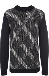 Шерстяной свитер фактурной вязки HUGO