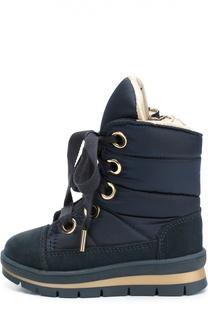 Текстильные ботинки с замшевой отделкой Jog Dog