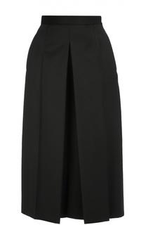 Укороченные широкие брюки со стрелками Alexander McQueen
