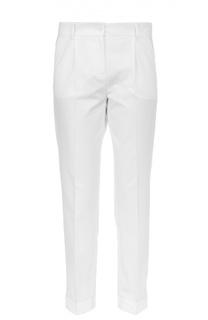 Хлопковые брюки прямого кроя со стрелками Dolce & Gabbana
