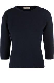 Шерстяной пуловер прямого кроя с укороченным рукавом Cruciani