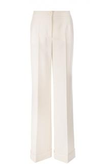 Широкие брюки с завышенной талией и стрелками Dolce & Gabbana