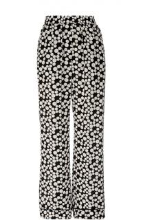 Шелковые прямые брюки в горошек с эластичным поясом Dolce & Gabbana