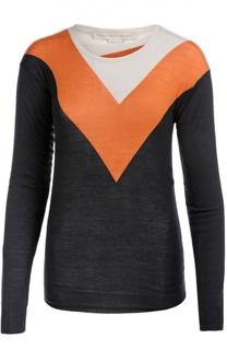 Пуловер с круглым вырезом и контрастным принтом Stella McCartney
