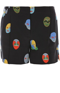 Шелковые шорты с принтом Stella McCartney