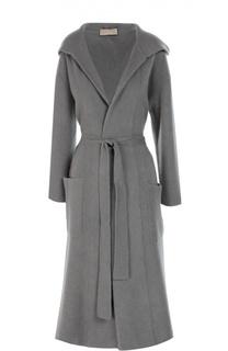 Вязаное пальто с поясом и капюшоном Cruciani