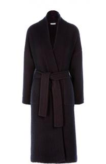 Пальто прямого кроя с поясом и накладными карманами malo