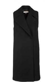 Удлиненный шерстяной жилет с широкими лацканами Emilio Pucci