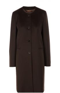 Пальто прямого кроя с круглым вырезом Colombo