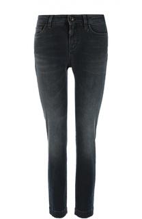 Укороченные джинсы скинни с потертостями Dolce & Gabbana