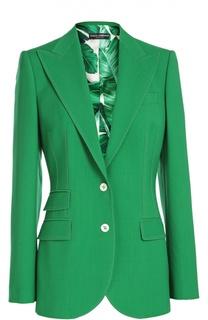 Шерстяной костюм-тройка с приталенным жакетом и расклешенными брюками Dolce & Gabbana