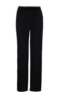 Бархатные брюки прямого кроя Armani Collezioni