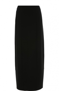 Юбка-макси прямого кроя с разрезом Armani Collezioni