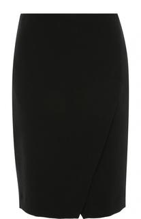 Облегающая мини-юбка с разрезом спереди Armani Collezioni
