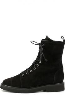 Замшевые сапоги на шнуровке Giuseppe Zanotti Design