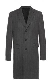 Шерстяное однобортное пальто Burberry