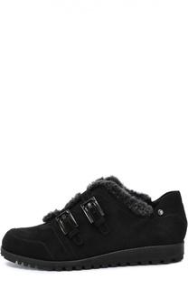Замшевые ботинки с внутренней отделкой из меха Stuart Weitzman