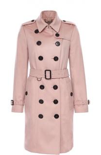 Двубортное кашемировое пальто с поясом Burberry