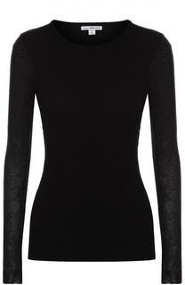 Облегающий пуловер с круглым вырезом James Perse
