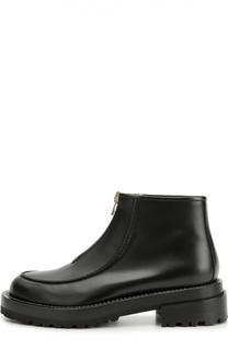 Кожаные ботинки на массивной подошве Marni
